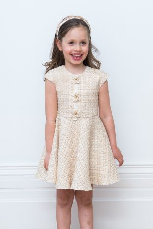 ivory tweed formal dress