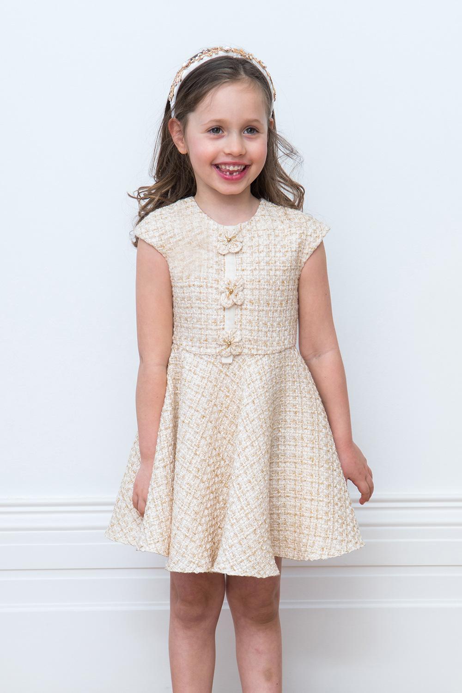 ivory tweed formal dress