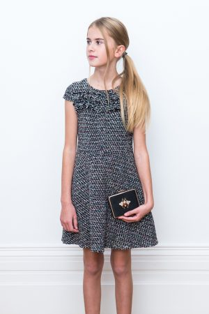black tweed formal dress