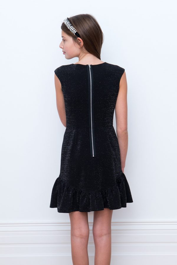 ruffle little black dress