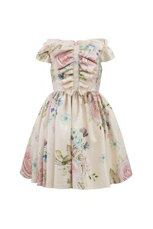 pink rose watercolour dress