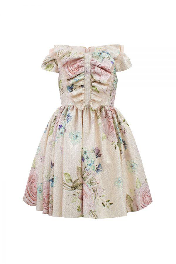pink rose watercolour dress