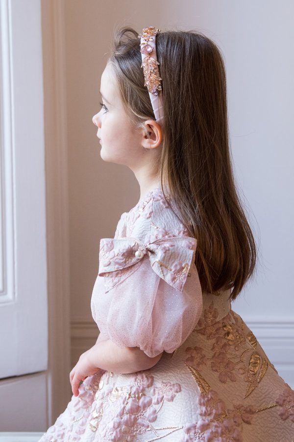 pink pearl ball gown