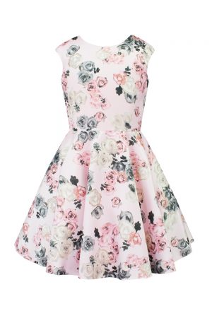 pink rose prom gown