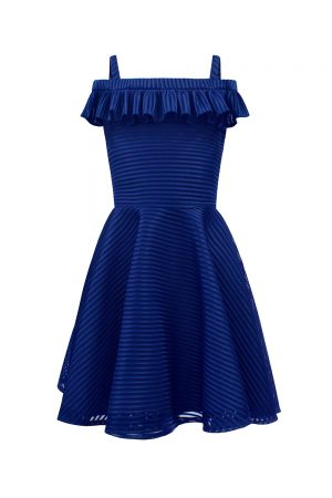 royal blue shoulder strap dress