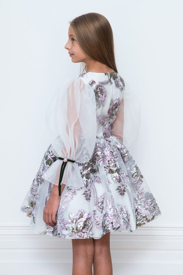 ivory winter floral gown
