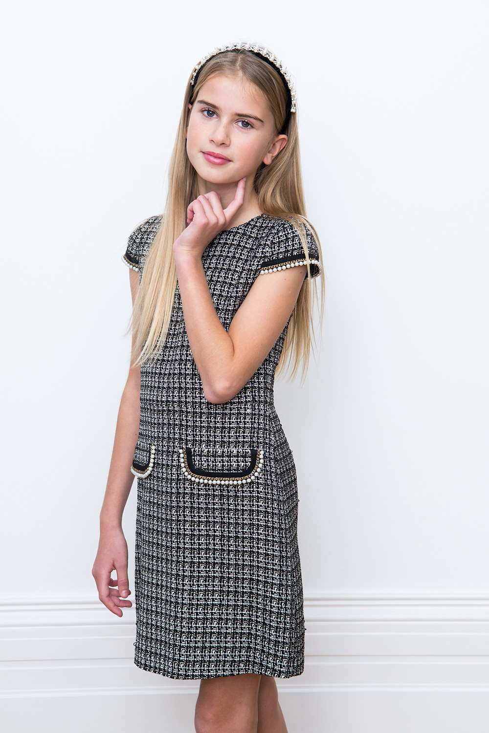 black tweed dress