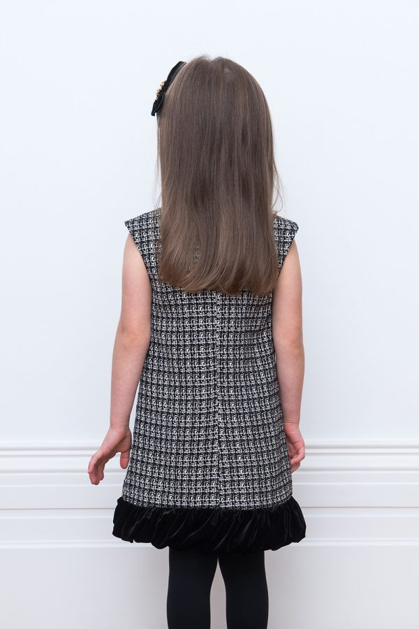 black tweed shift dress