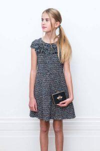 Black Tweed Formal Dress