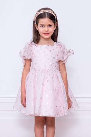 candy pink polka dot gown