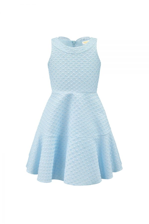 pearl blue day dress