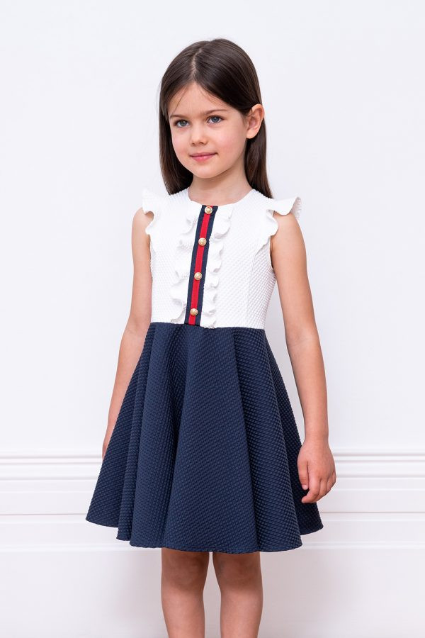 ivory and navy birthday dress