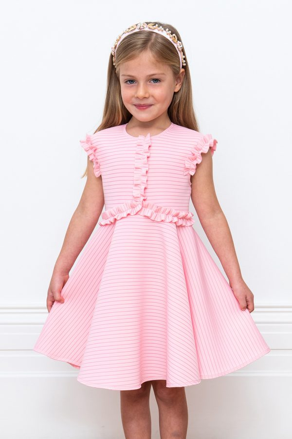 pink stripe summer dress