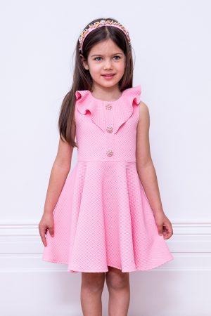 jewelled pink frill dress