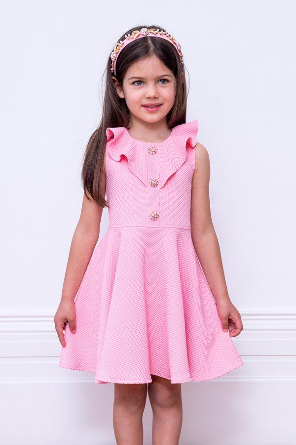 jewelled pink frill dress