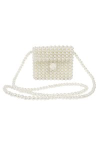 luxury ivory pearl bag