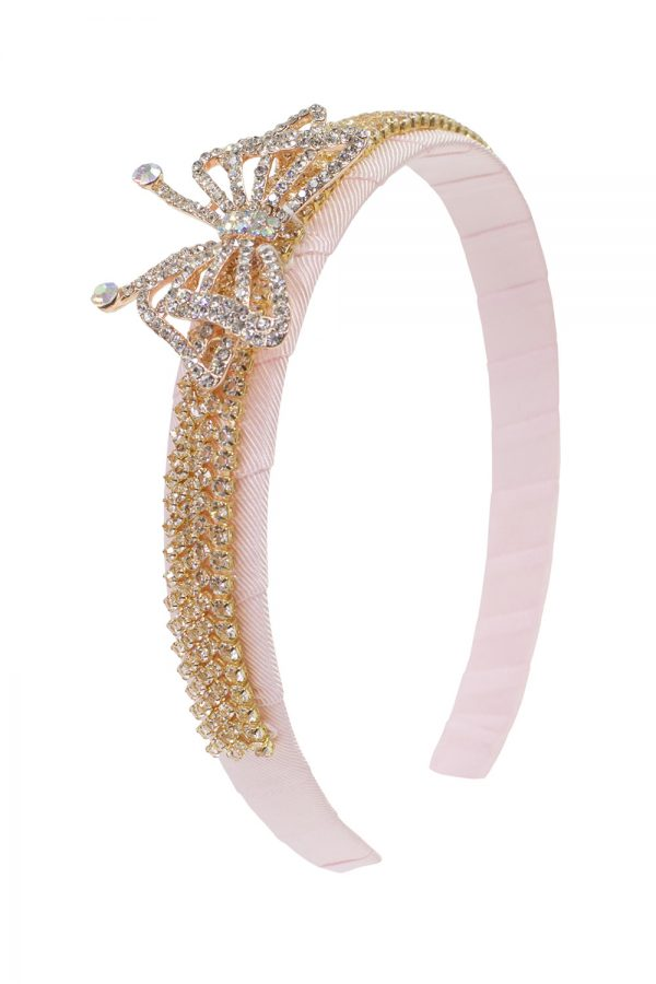 pink butterfly hair band