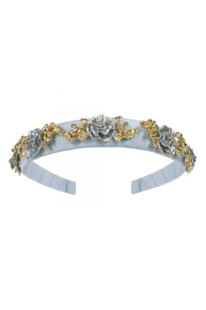 frosted blue rose hair band