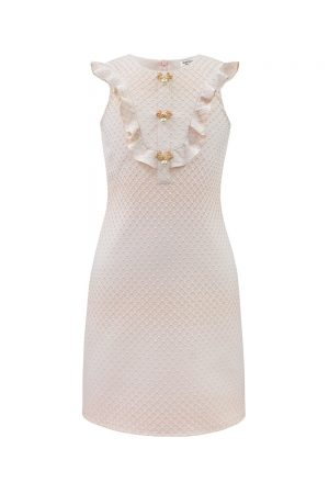 pink sparkle shift dress