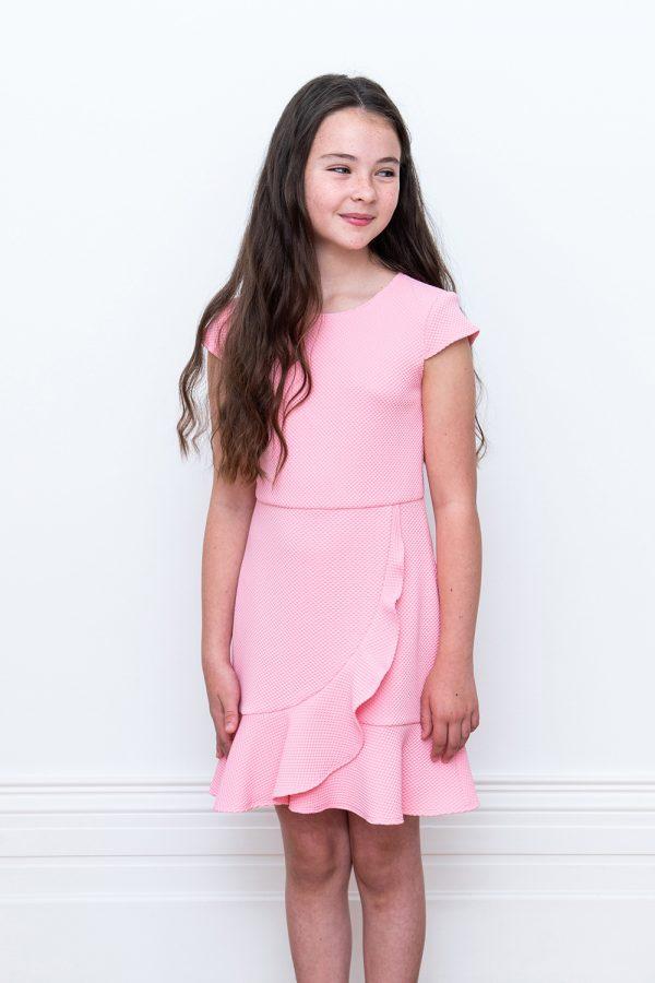 think pink waterfall dress