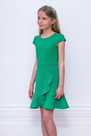 jade green waterfall dress