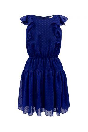 royal blue blouson dress