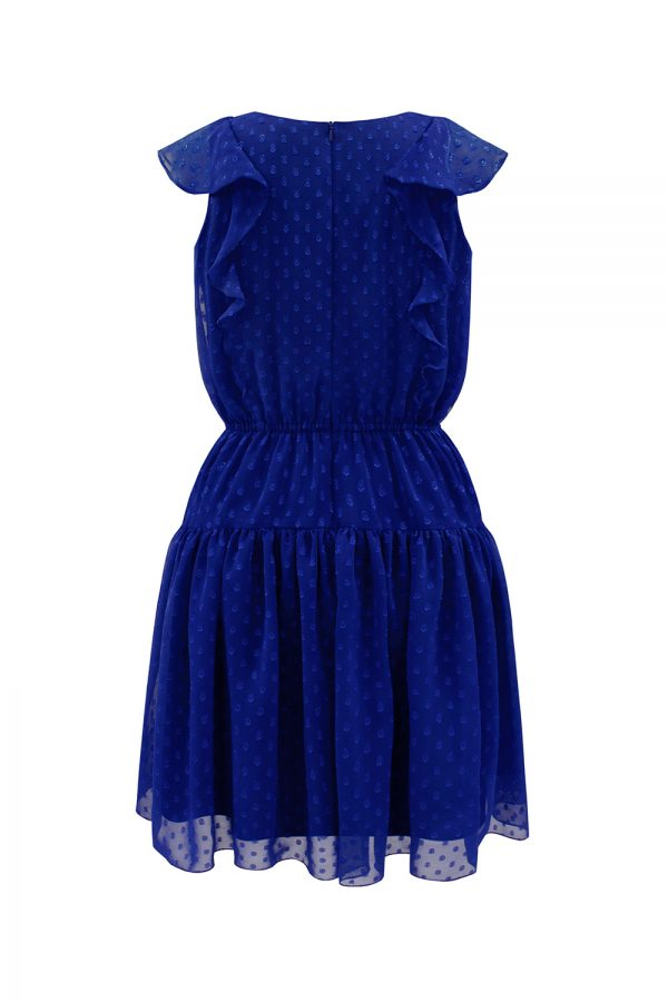 royal blue blouson dress