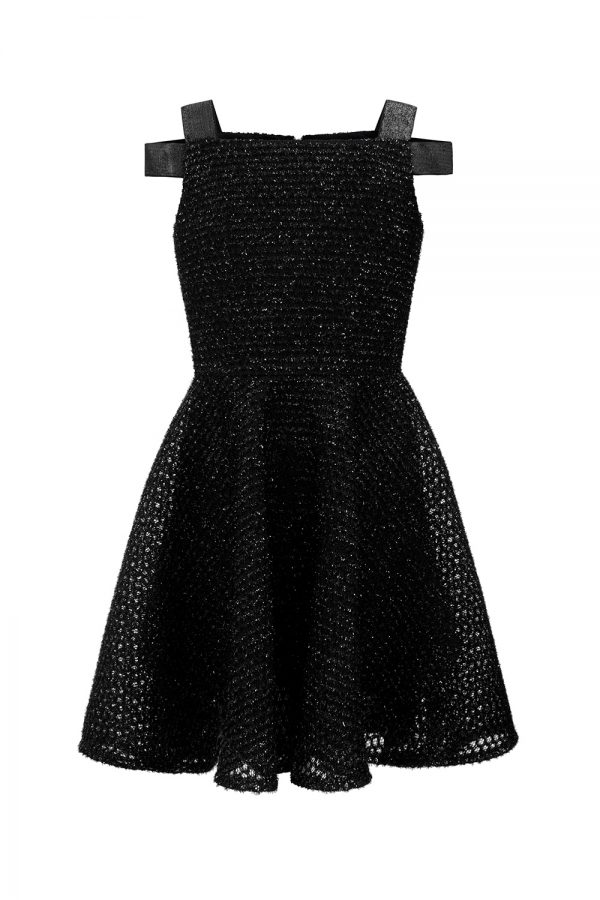 black techno party dress