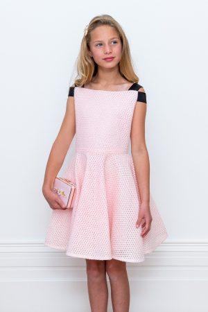 bon bon pink contrast gown