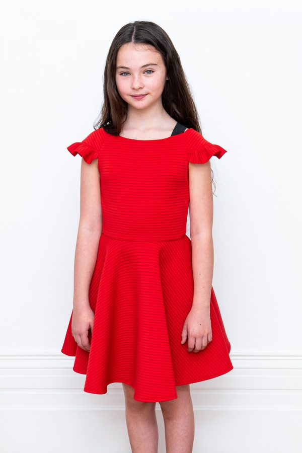 red satin birthday dress