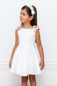 ivory floral occasion gown