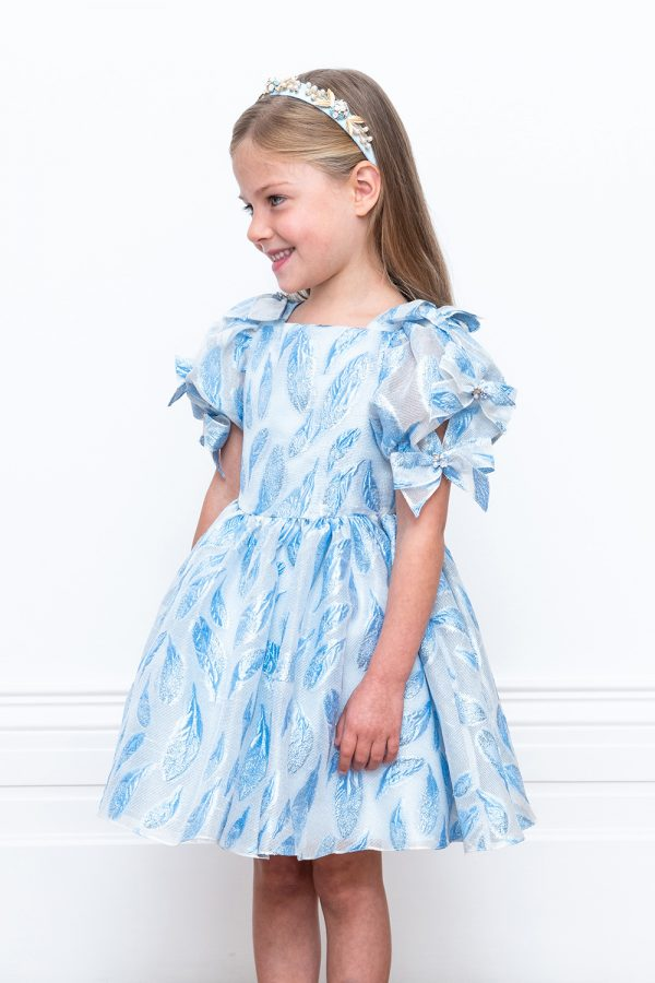 blue spring foliage gown