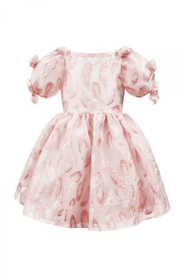 blush pink spring leaf gown