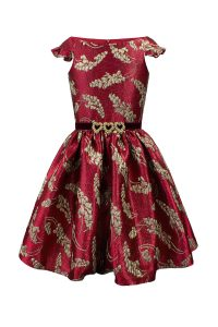 Winter Wine Brocade Gown