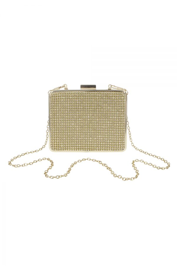 gold sparkle box bag