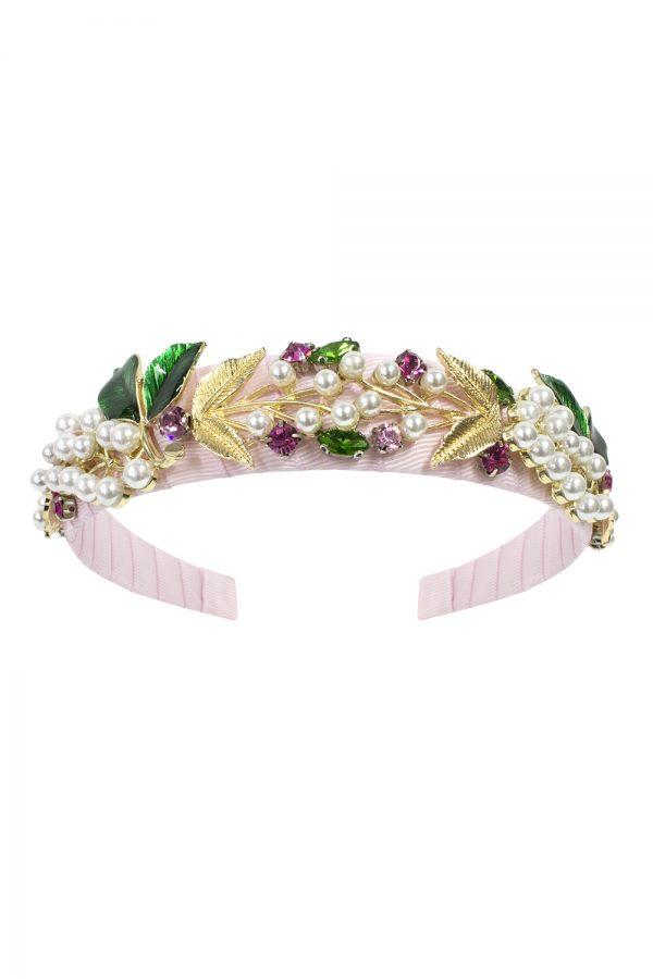 pink jewelled princess hair band