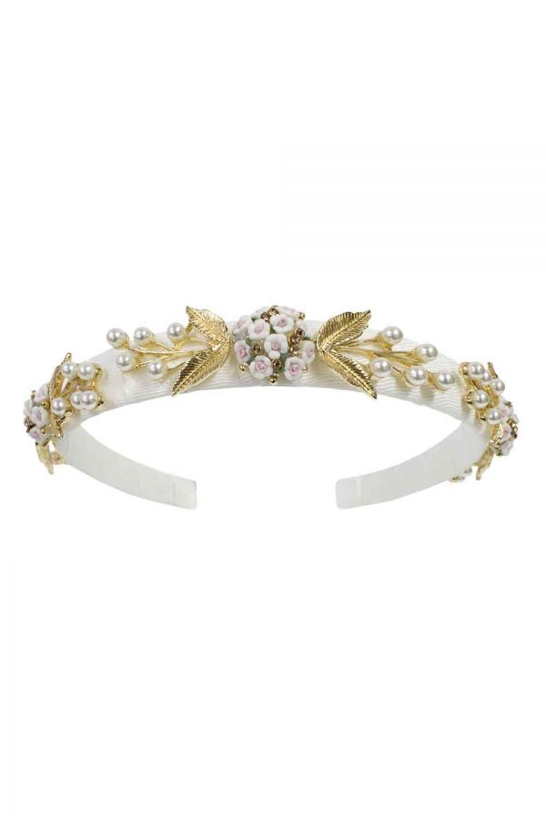 ivory floral bridesmaid hair band