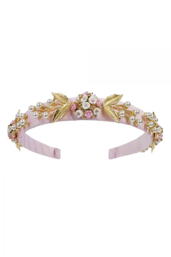 pink bouquet birthday hair band