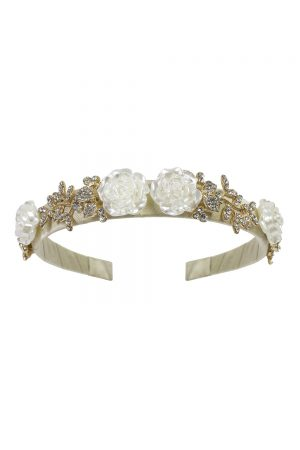 gold pearlescent rose Alice band