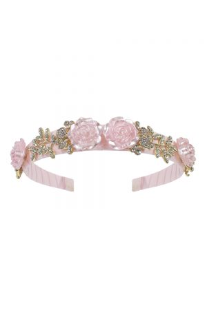 pearl pink rose Alice band