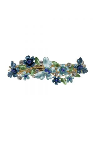 orchid blue butterfly hair clip