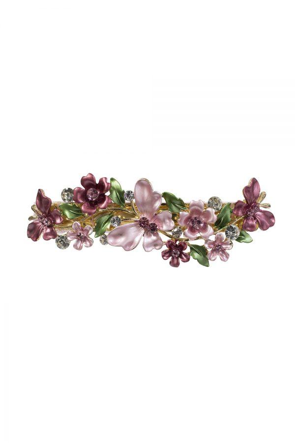 petal pink butterfly hair clip