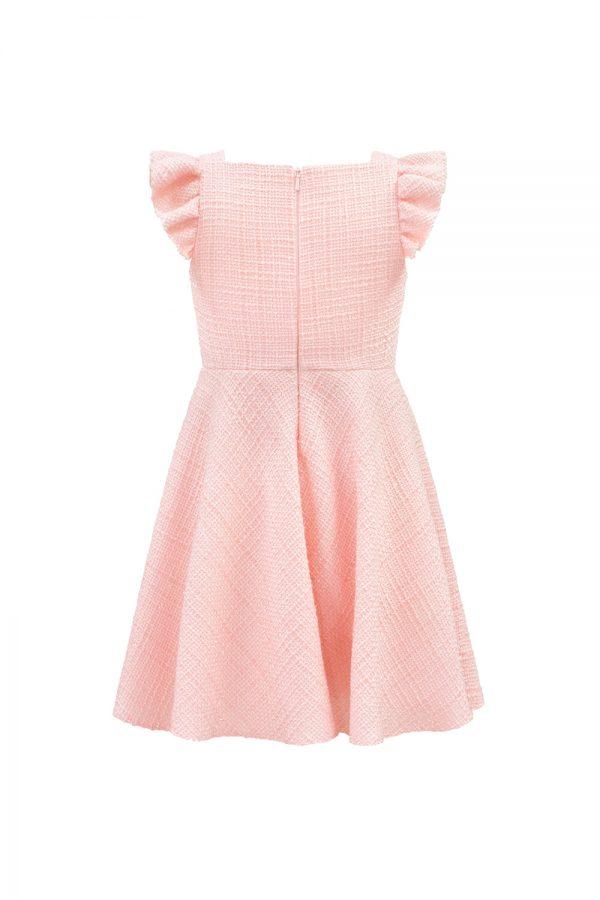 parfait pink tweed tea dress