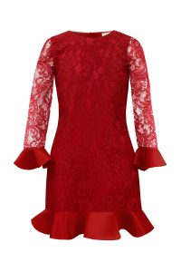 Red Lace Holiday Dress