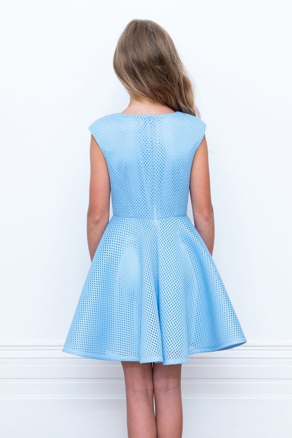 blue jewelled skater dress