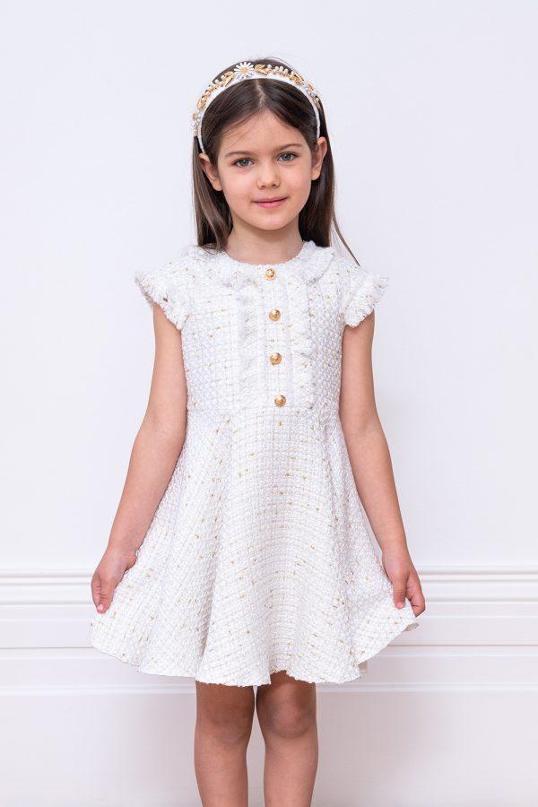 ivory tweed gown