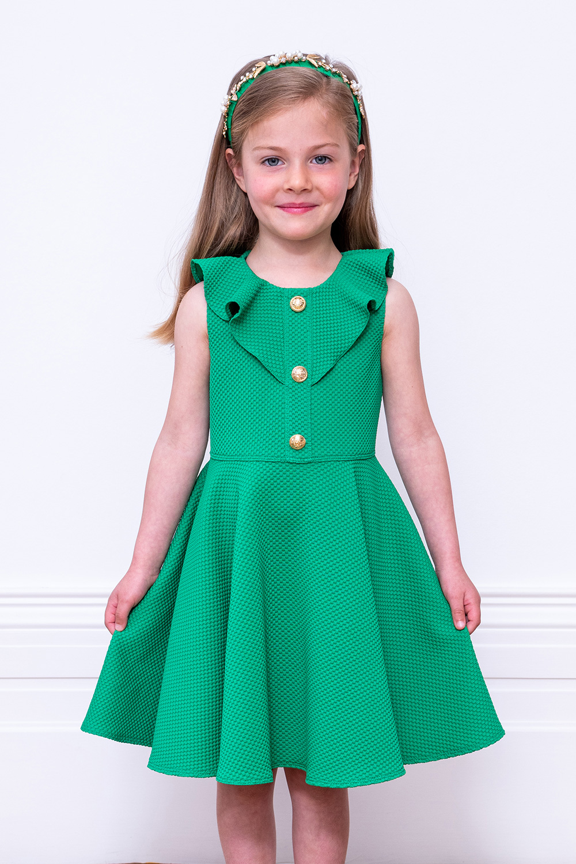 Green Formal Frill Dress