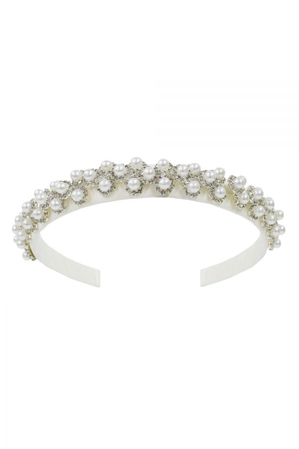 ivory pearl princess hair band