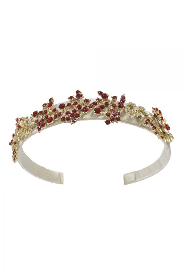 gold and red jewel Alice band