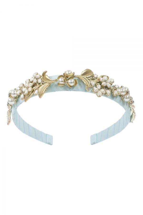 dream blue pearl hair band